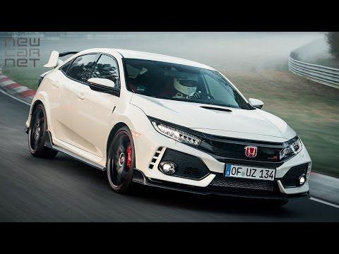 Video New Honda Civic Type R Breaks Nurburgring Fwd Lap Record Typer Honda Type R Honda Civic Type R Honda Civic Coupe
