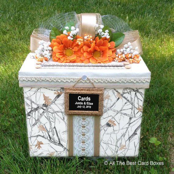 Camo Outdoor Wedding Ideas: Camo Wedding Card Box,camo Wedding,camo Wedding Dress,camo