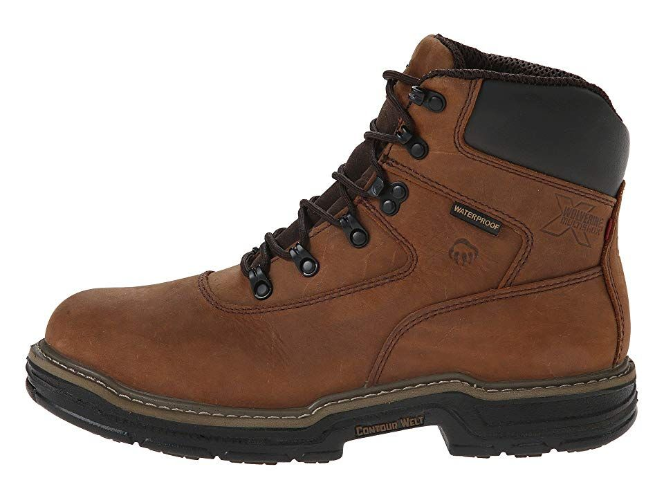 76d9a8529bd Wolverine Marauder Multishox(r) Waterproof 6 Men's Work Boots Brown ...