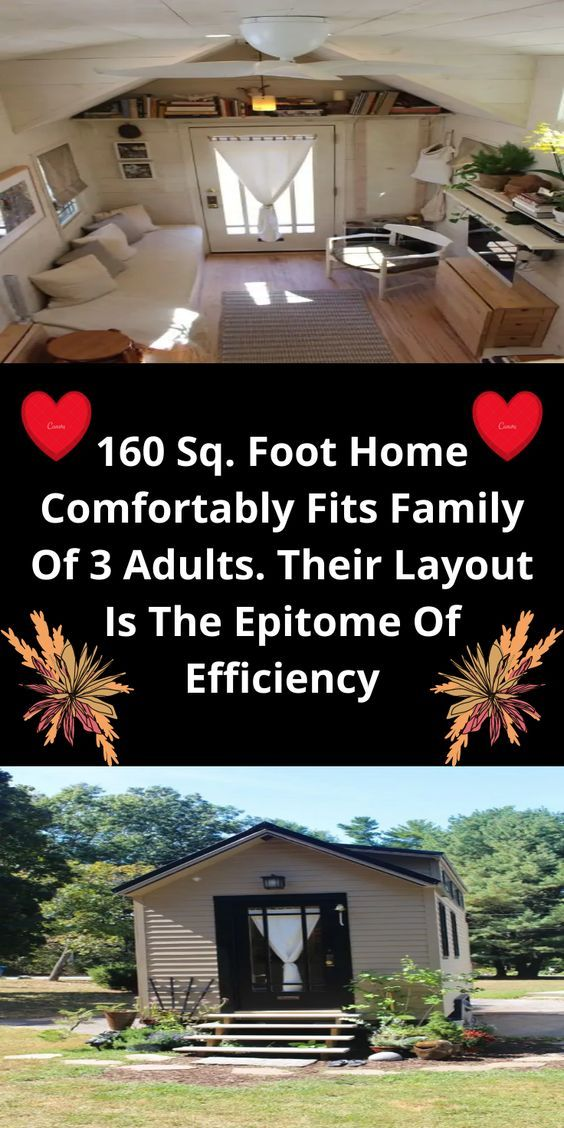 160 Sq. Foot Home Comfortably Fits Family Of 3 Adu