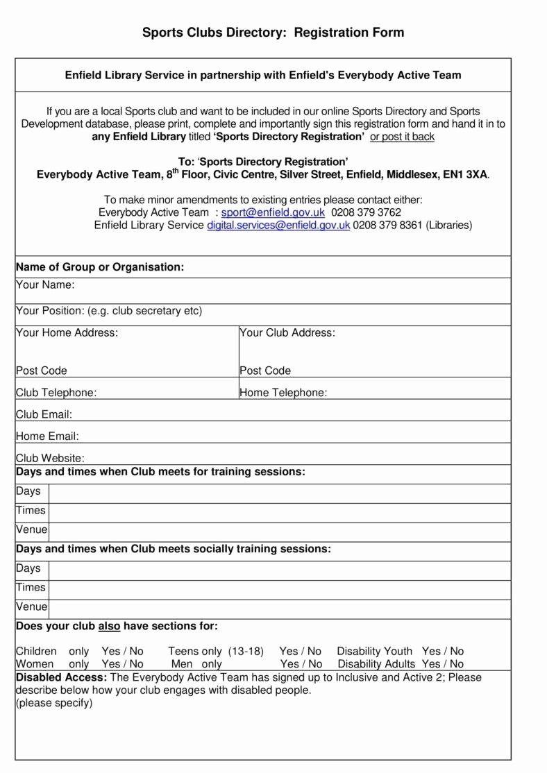 Printable Vendor Stration Form Template Student Word Camp Inside Camp Registration Form Tem Registration Form Professional Templates School Newsletter Template