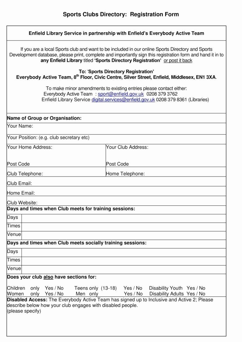 Printable Vendor Stration Form Template Student Word Camp Inside
