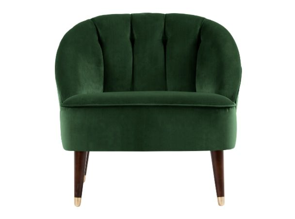 Remarkable Margot Accent Chair Forest Green Velvet Sofa Green Caraccident5 Cool Chair Designs And Ideas Caraccident5Info