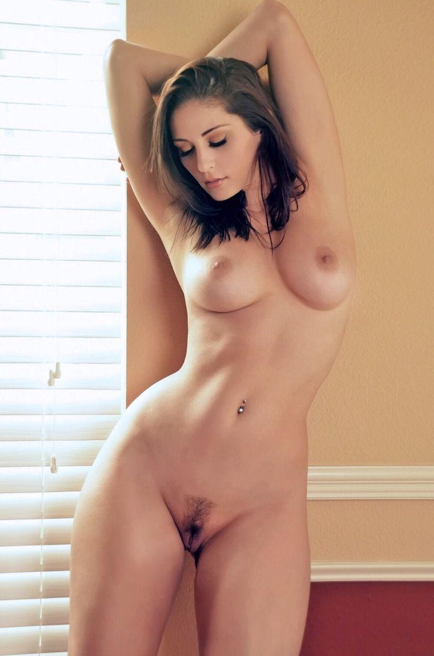 Spread naked legs