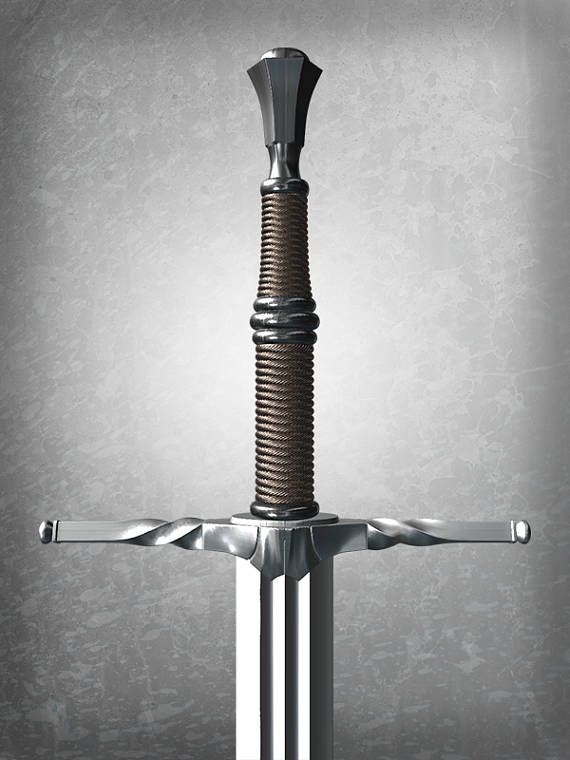 Witcher Steel And Silver Swords Bundle 3d Printing Digital