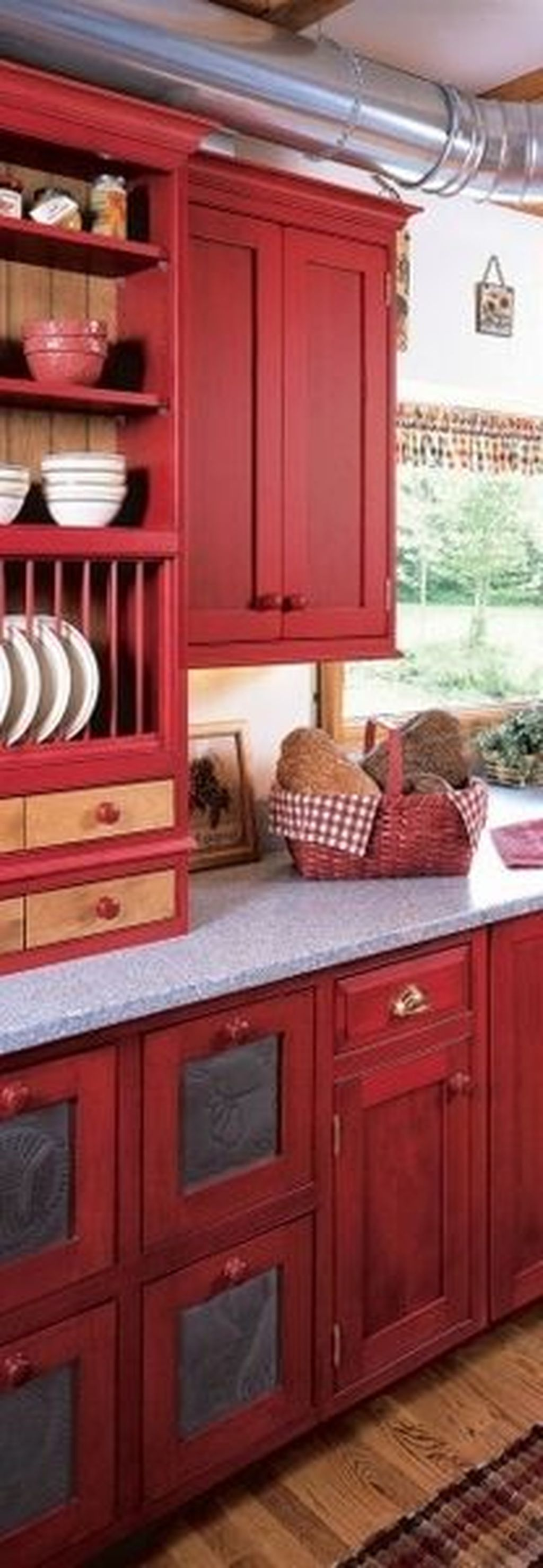 20 fabulous red kitchen wall decoration ideas that you