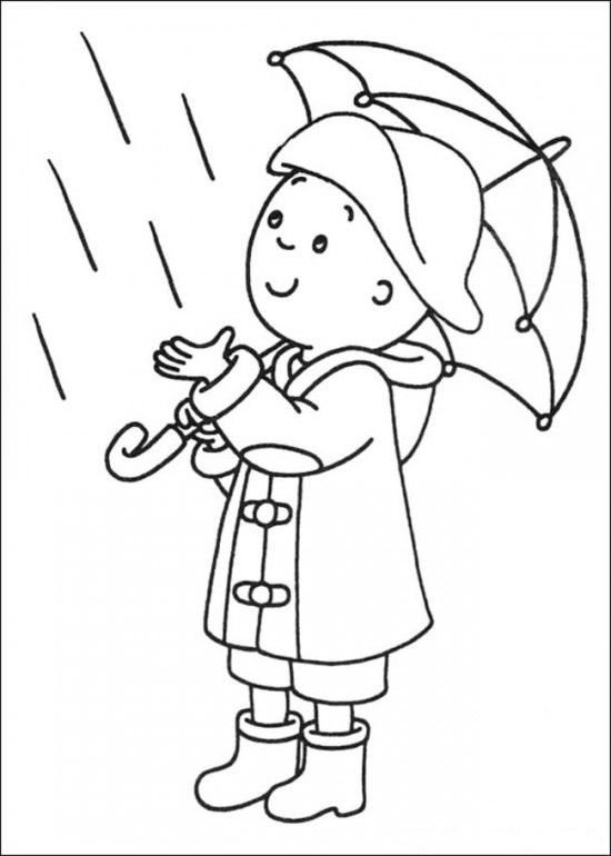 Caillou Coloring Pages Online Picture 9 9x9 Picture | Coloring ...