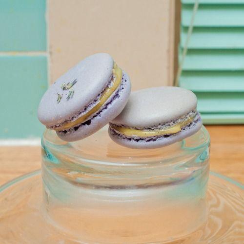 Lavender & Lemon Curd Macarons