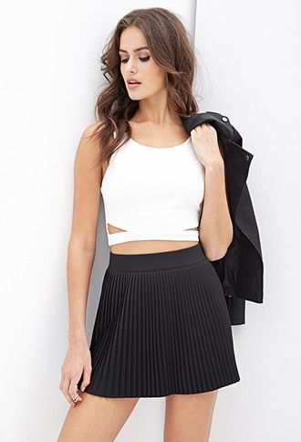253c5a1921 Accordion-Pleated Skirt | Forever 21 - 2000137480 | Rock star in ...
