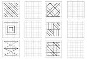 Reproduction de figures géométriques en 2020 | Géométrie, Dessin quadrillage, Frise géométrique