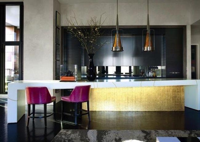 kche luxus modern goldene fronten schwarze schrnke - Kuche Luxus Modern