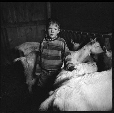 'Im Geissenstall,' original black and white photograph by artist Riedo Romano (Switzerland) available at SaatchiArt #BlackandWhite