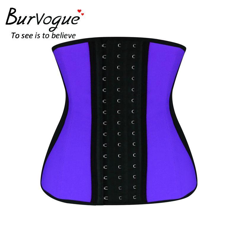 b952ac40fa Burvogue adelgazamiento látex cintura trainer control de huesos de acero  las mujeres de los corsés de underbust del corsé de la cintura más el  tamaño de ...