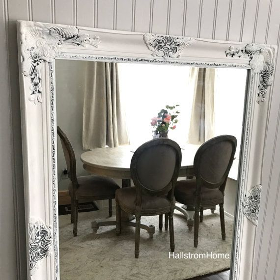 White Shabby Chic Mirror Large Bathroom Mirror Vanity Mirror Baroque Mirror  Wall Mirror Ornate Mirror Custom