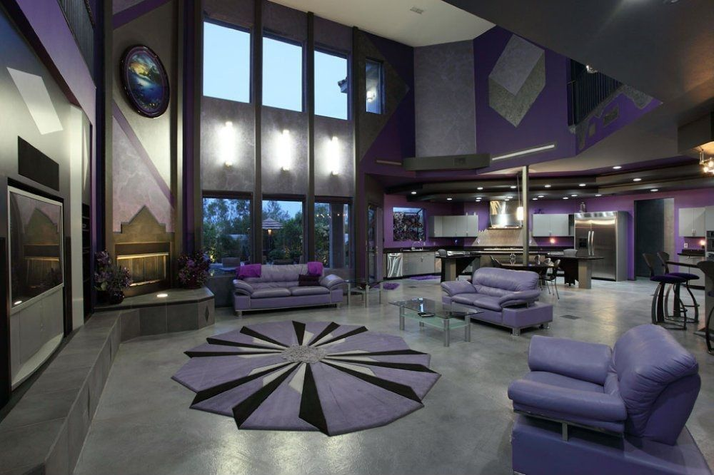 Art Deco Living Room With Sunken Living Room Natalie Purple Extraordinary Art Deco Living Room Design Inspiration Design