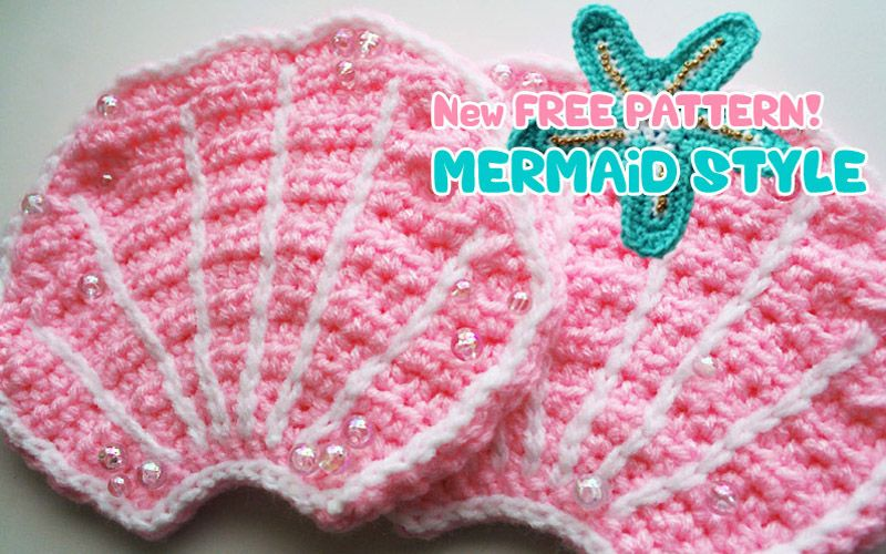 Free Pattern: Mermaid Style | Crocheted - Appliques | Pinterest ...