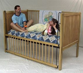 Adult baby furniture adult baby crib age play for Cradle bed for adults
