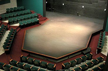 use of a thrust stage in History, roles and use of thrust staging  for the past 2000 years, theatre performances deliver emotions to entertain the audience different stages have brought many different purposes in.