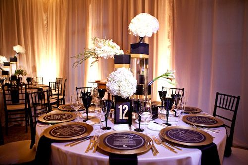 Gold And Black Wedding Ideas