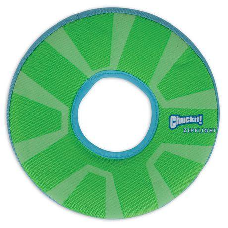 Chuck It Chuckit Zipflight Max Glow Med Disc Dog Toy Green