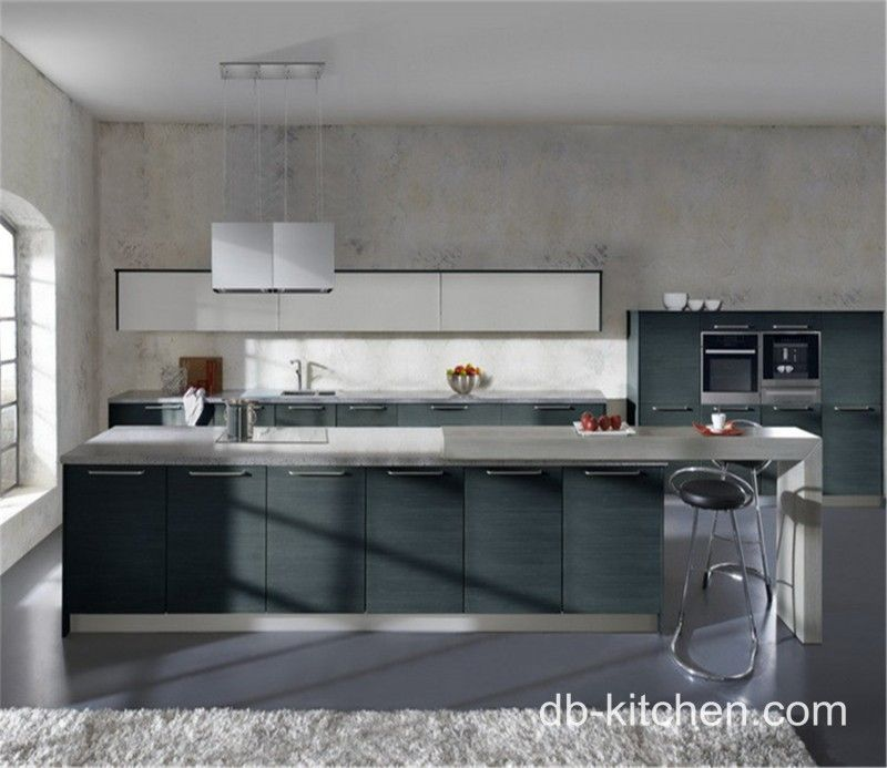 Best Paint For Melamine Kitchen Cupboards: Grey Melamine And Gloss White Acrylic Laminate Kitchen