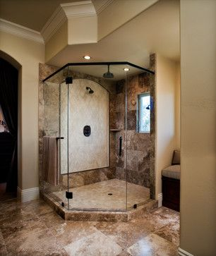 Mediterranean Small Bathroom Floor Tile Bath Design Ideas Pictures Remodel And Decor Cool