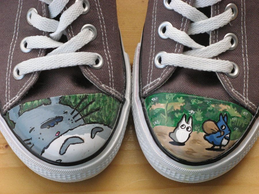 Totoro shoes by kayleigh29 on DeviantArt
