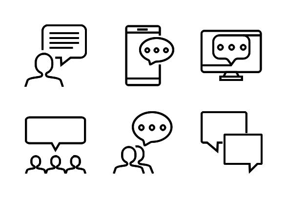 Communication Icons By Vinzence Studio Communication Icon Technology Icon Communication