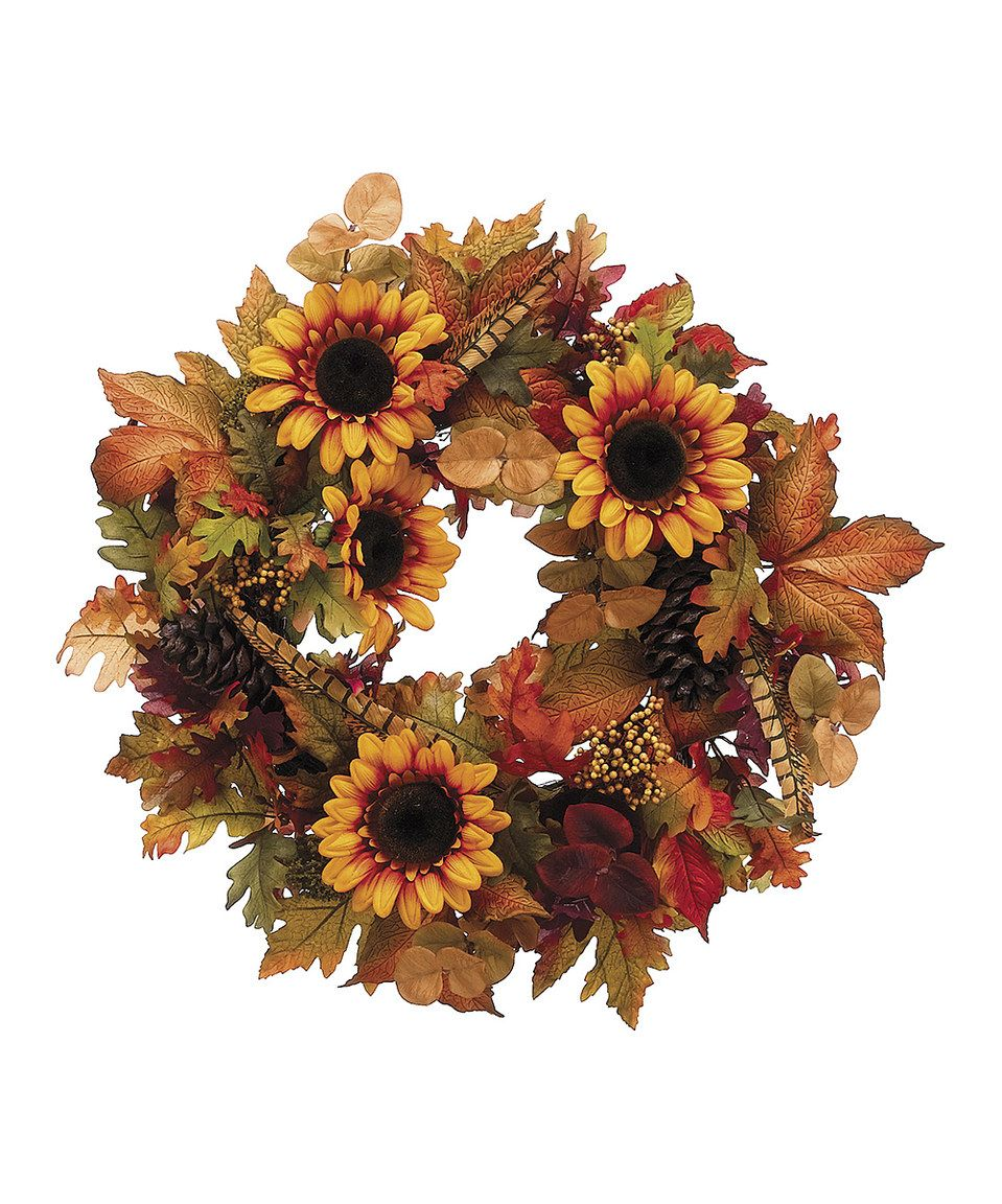 Look What I Found On Zulily Sunflower Oak Wreath By Allstate