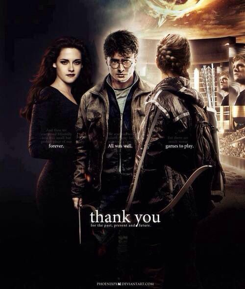 Awesome / FANDOMS UNITE!! Twilight / Harry Potter / Hunger Games / Katniss
