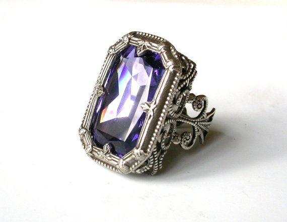 Hey, I found this really awesome Etsy listing at https://www.etsy.com/listing/178800168/gothic-ring-large-swarovski-tanzanite