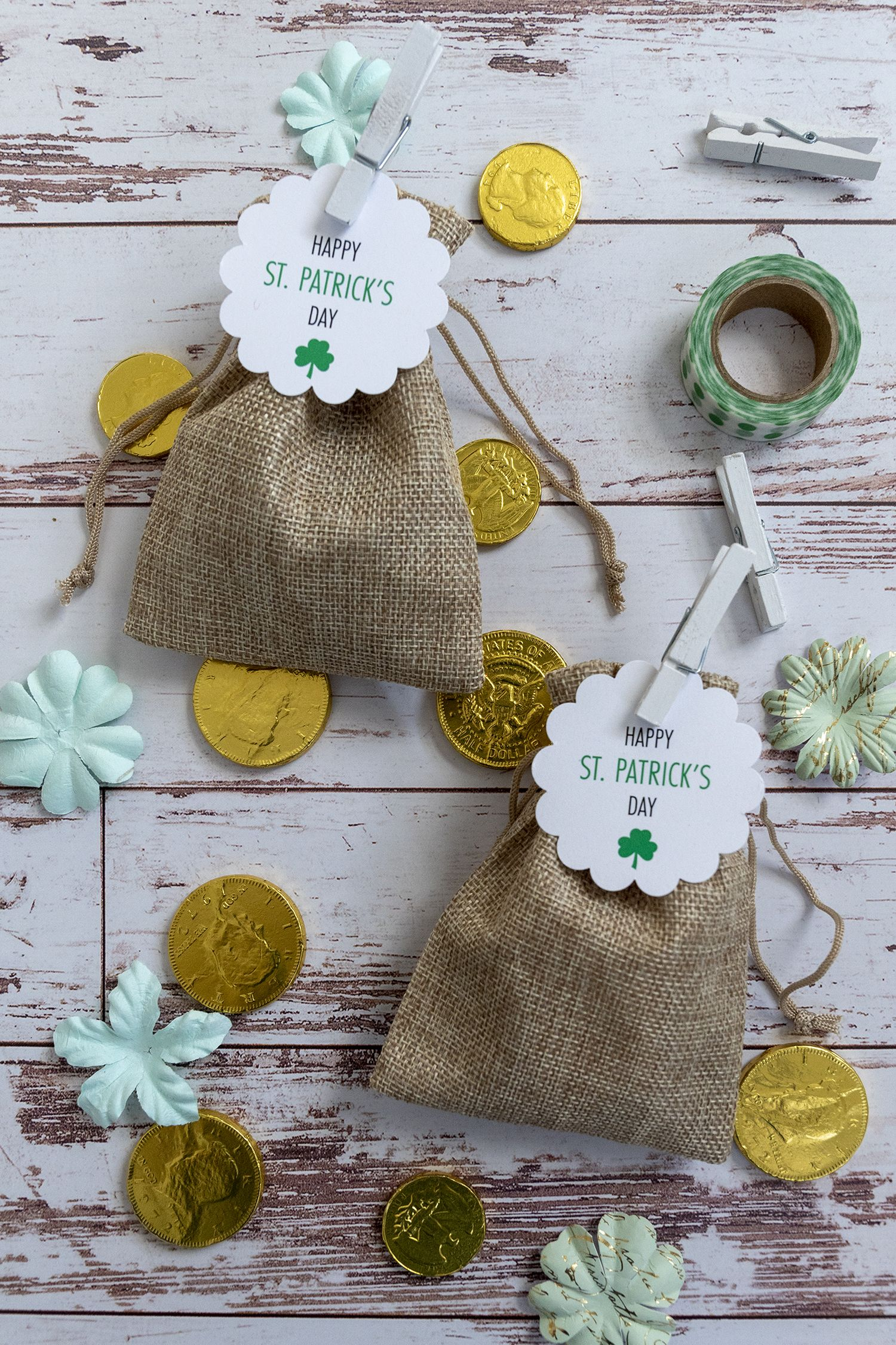 Make a leprechauns bag of chocolate gold for st patrick