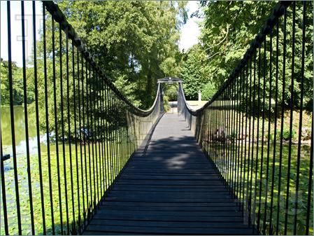 A foot bridge connecting my gardens at my dream home