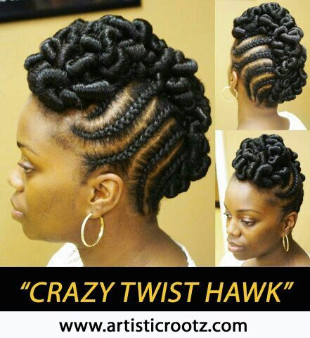 crazy twist hawk natural hairstyles