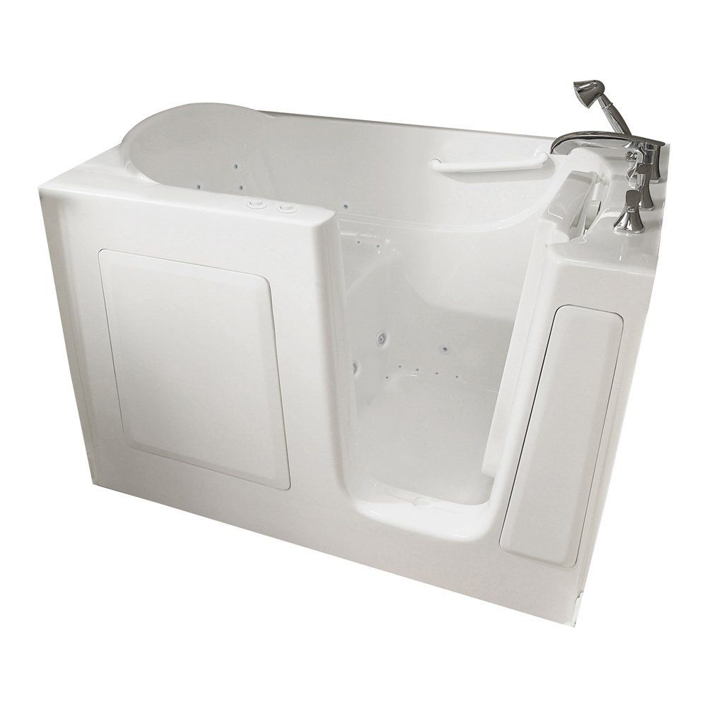 American Standard By Whirlpool Gelcoat Walk In Bath With Quick Drain,  White, Right Hand    Continue To The Product At The Image Link.