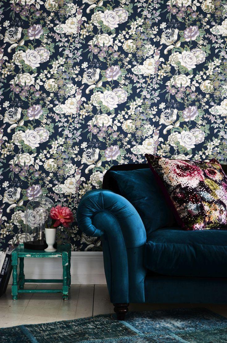 Raipur Floral Wallpaper SZ001847 Wallpaper Pinterest Floral