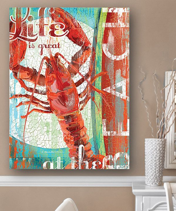 Look at this 'Life Is Great at the Beach' Wall Art on #zulily today!