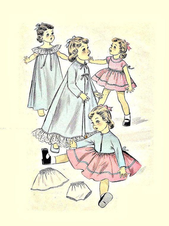 Vintage 14 inch Doll Wardrobe Sewing Pattern by KeepsakesStudio ...