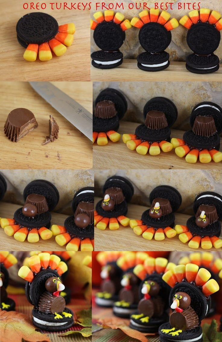 How to make a turkey out of candy Thanksgiving treats