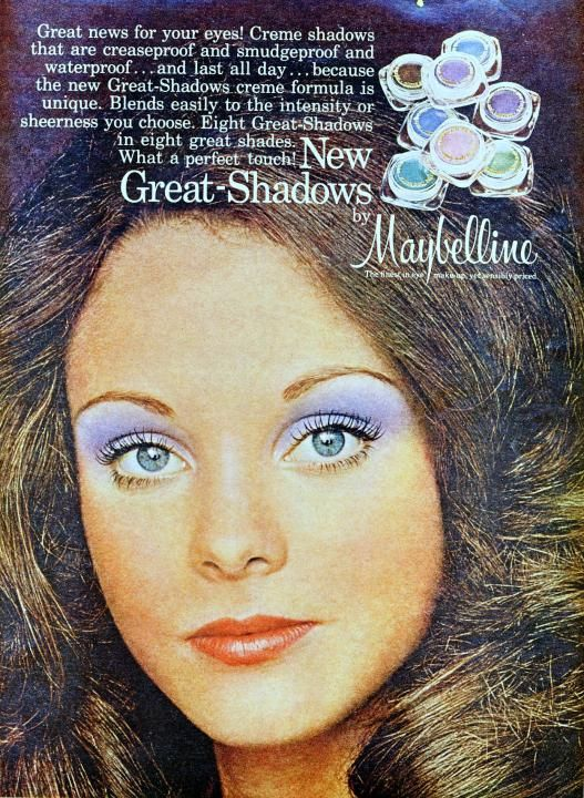 70 S Maybelline Ad With Images Vintage Makeup Ads 70s Makeup