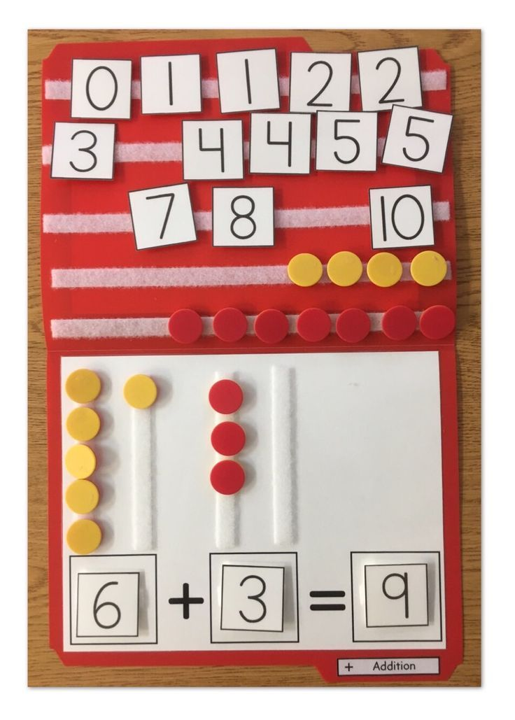 Teach your students simple addition up to 10 using this file folder activity. Having ALL the pieces stuck to the folder