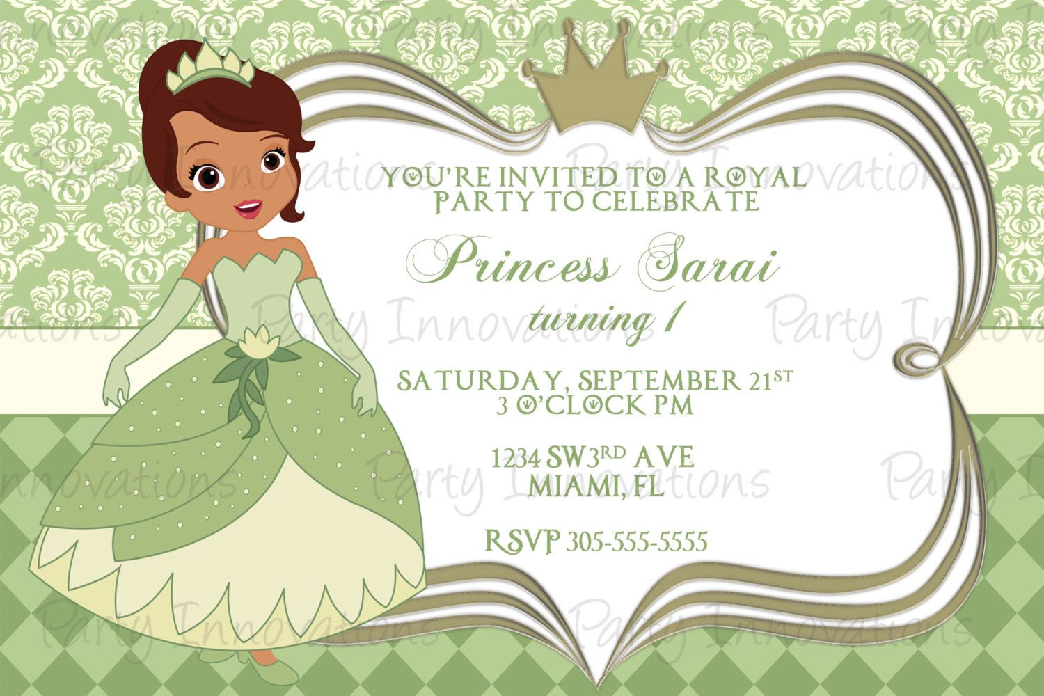 Download Now FREE Template Personalized Disney Princess Birthday ...