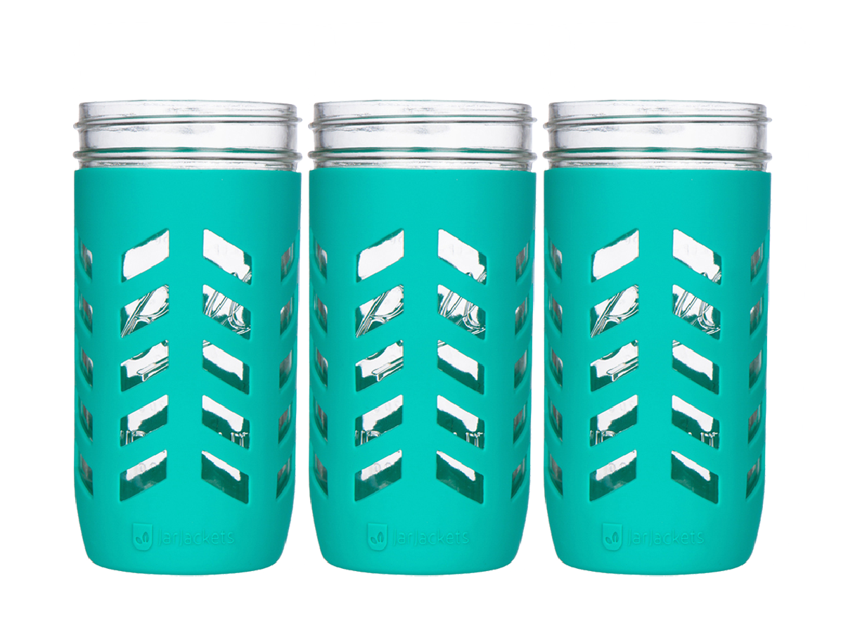 Package Of 3 Silicone Mason Jar Sleeves Fits 24oz 1 5 Pint
