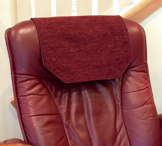 Recliner Chair Headrest Cover Burgundy Chenille By