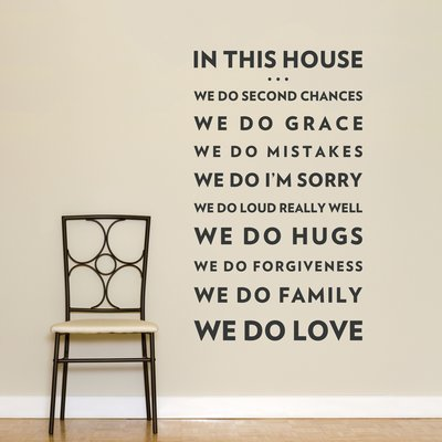 Wallums Wall Decor In This House We Do Love Wall Decal Love Wall