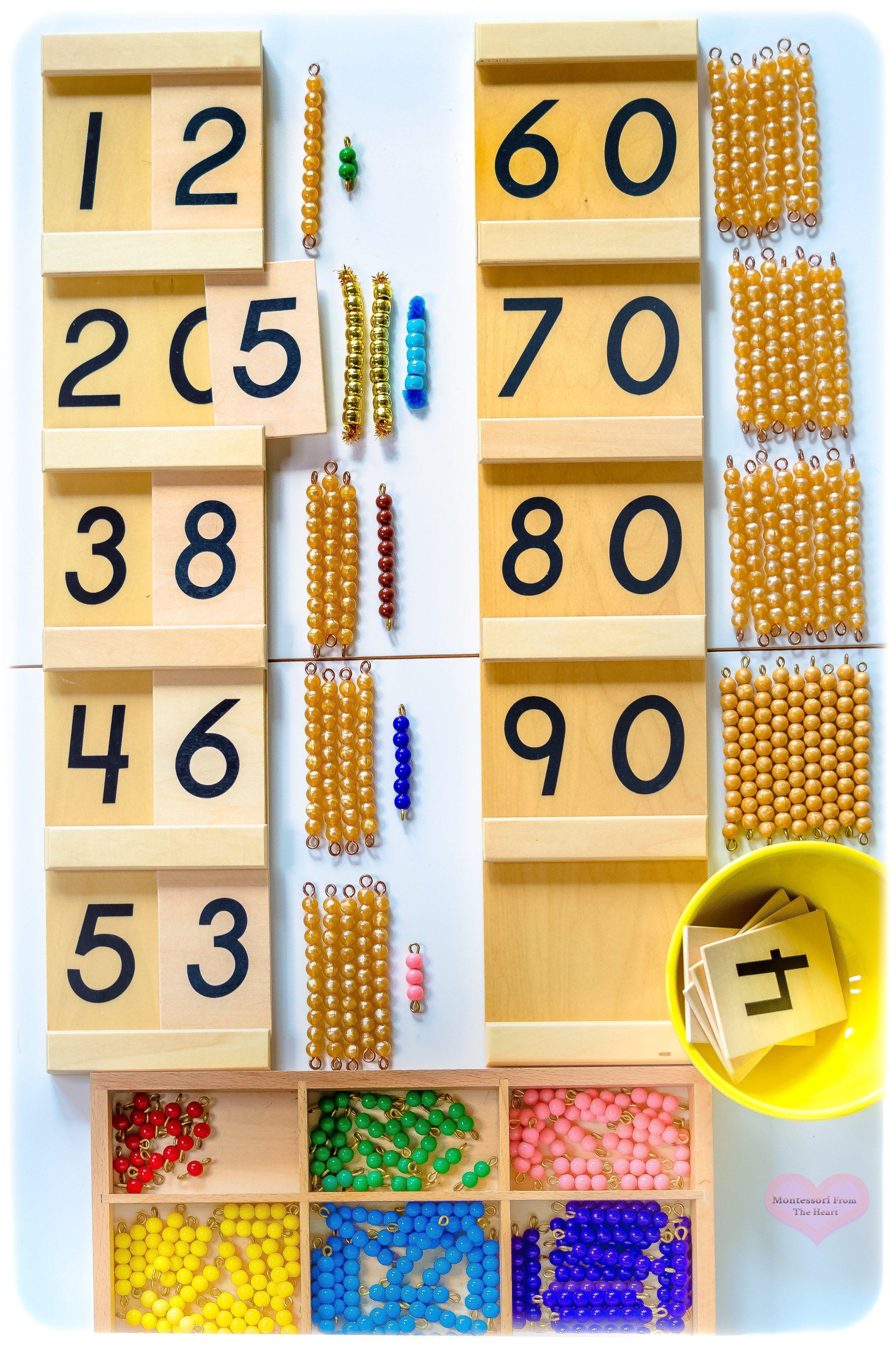 Diy Montessori Tens Board Kids Math