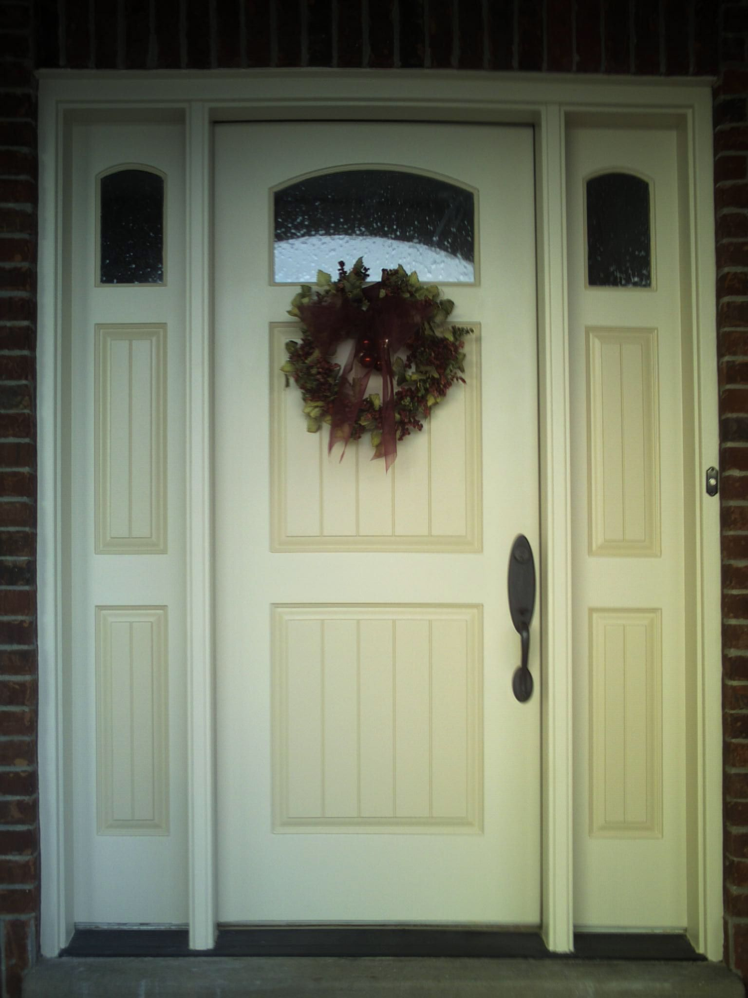 two-tone painted wood entrance door. | Front Porch | Pinterest ...
