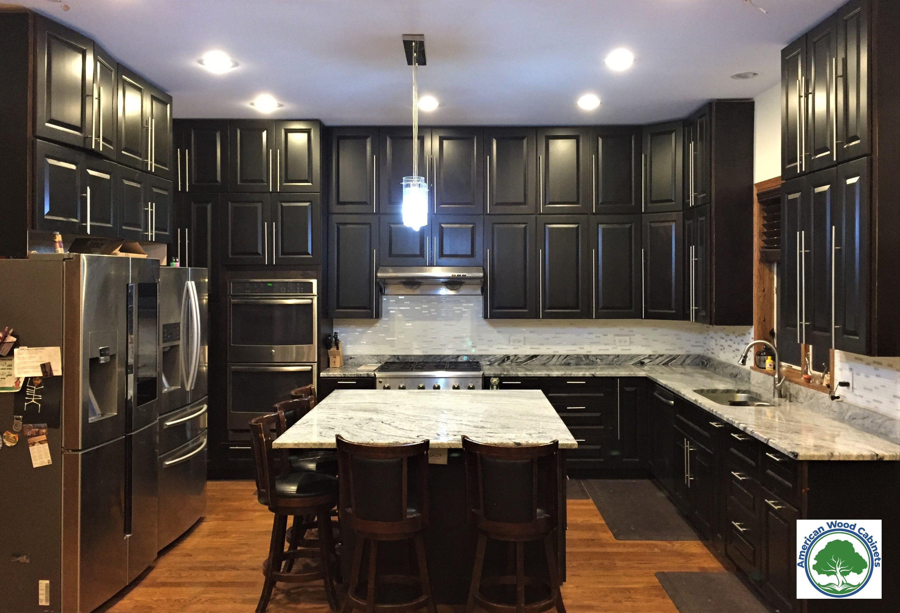 Raised Panel Espresso Kitchen Cabinets Kitchen Cleaning Hacks Espresso Kitchen Cabinets Kitchen Cabinets And Granite