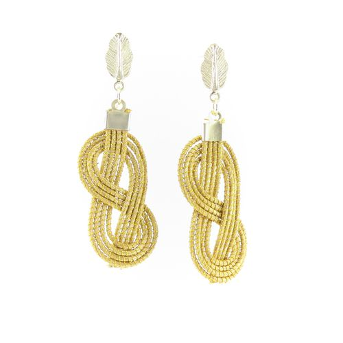 Handmade Eco Friendly Golden Grass Torsade Earrings, $35.00. Check out our store: http://www.ecofriendlytreasures.com - #ecofriendlytreasures