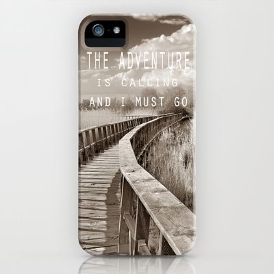 The adventure is calling, and I must go iPhone Case by Guido Montañés - $35.00